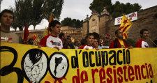 Manifestació de la campanya 300 anys a Lleida. Foto: L'ACCENT