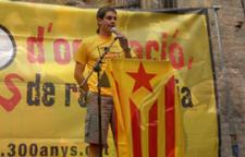 Andreu Ginés, en una mobilització de la campanya 300 anys