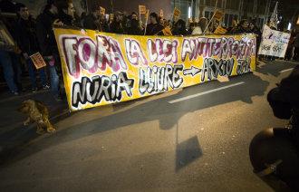 Mobilització solidària amb Pòrtulas l'any 2006. Foto: Toe