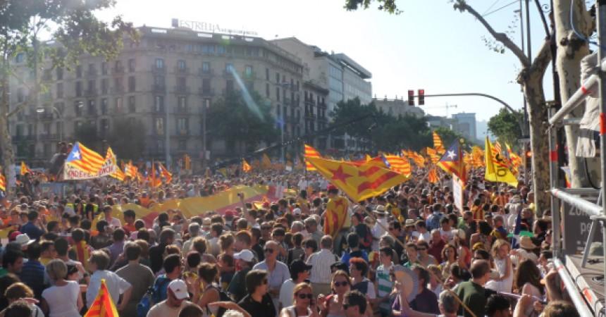 Imatges de la manifestació del milió i mig