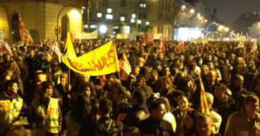 Els treballadors públics sortiren al carrer el 18 de gener a Barcelona