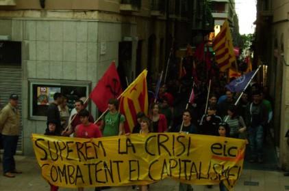 1 de Maig: milers de manifestants denuncien les conseqüències de la crisi en la classe treballadora