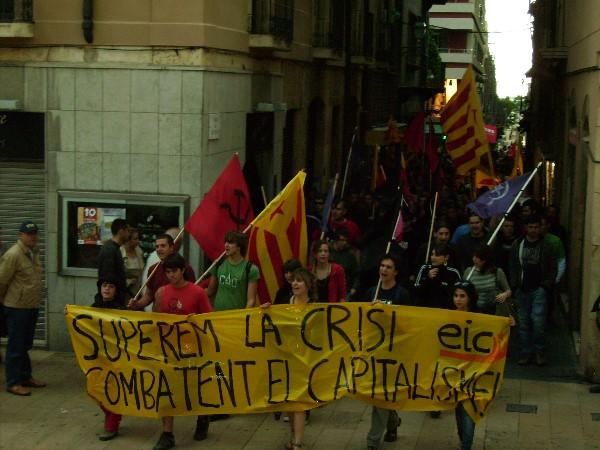 500 persones s'han manifestat l'1 de Maig a Tarragona