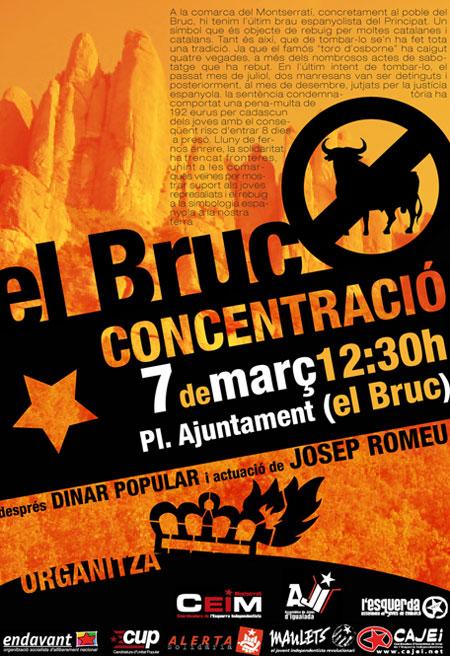 Cartell de la manifestació de dissabte a El Bruc
