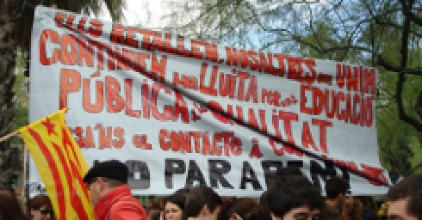 Èxit social de la vaga de l'ensenyament