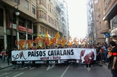 Augmenta la participació a la manifestació en motiu de la diada del País Valencià