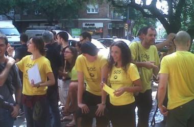 Substituts i interins protesten contra l'ERO encobert a més de 3.000 docents acomiadats i contra la privatització de l'escola pública