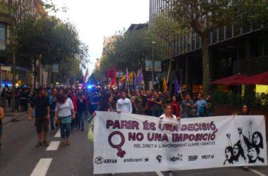 Mobilitzacions arreu dels Països Catalans pel dret a l'avortament davant les amenaces del govern espanyol