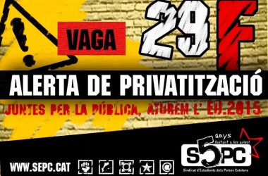 #29F: 'Hem d'omplir la lluita contra les retallades d'un discurs de rebuig frontal a l'EU2015'