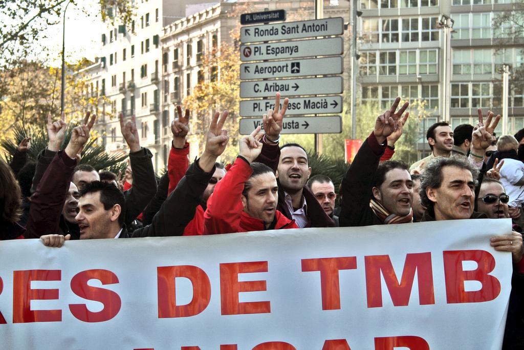 Manifestació pels dos dies de descans setmanal. Foto: Jose Téllez