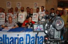 Roda de premsa per denunciar la situació de Dahane. Foto: L'ACCENT