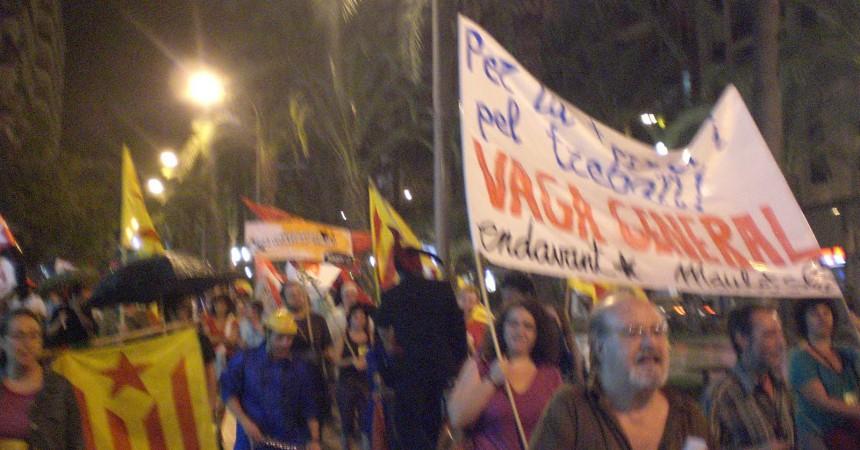 Nova mobilització contra la Reforma Laboral i per la vaga general a Alacant