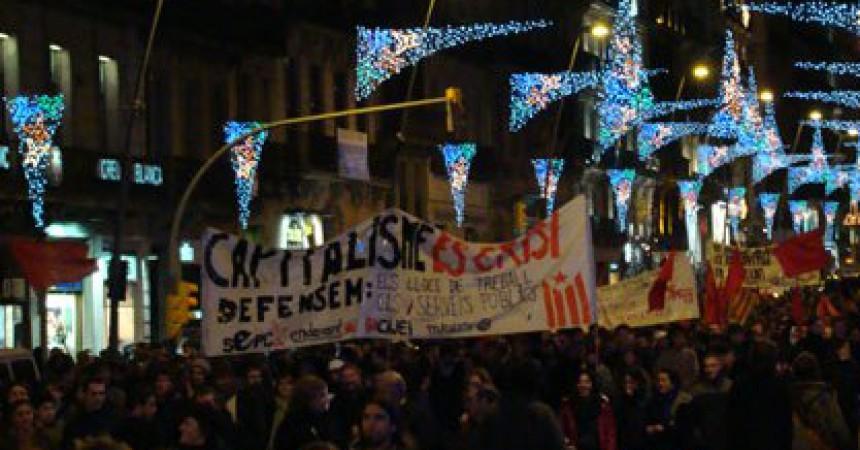 Noves mobilitzacions contra la crisi a Barcelona i a València