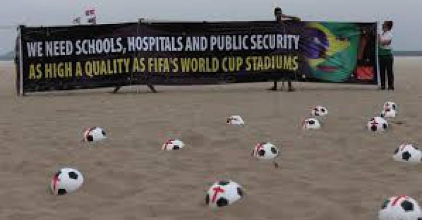 La copa confederacions esdevé l'escenari de massives protestes