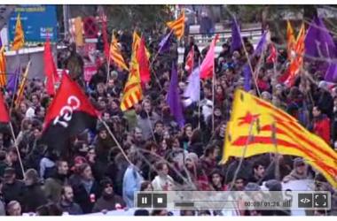 Quatre mil persones es manifesten a Barcelona contra la retallada de les pensions