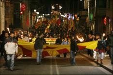Capçalera de la manifestació. Foto: Oriol Clavera