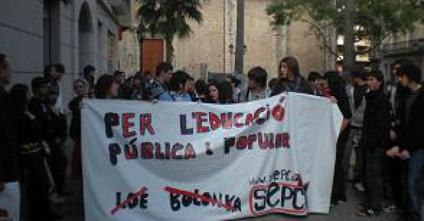 Secundària es mobilitza per l'ensenyament públic al País Valencià