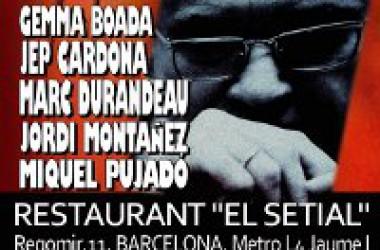 5 cantautors reten homenatge aquest divendres al poeta Vicent Andrés Estellès a Barcelona