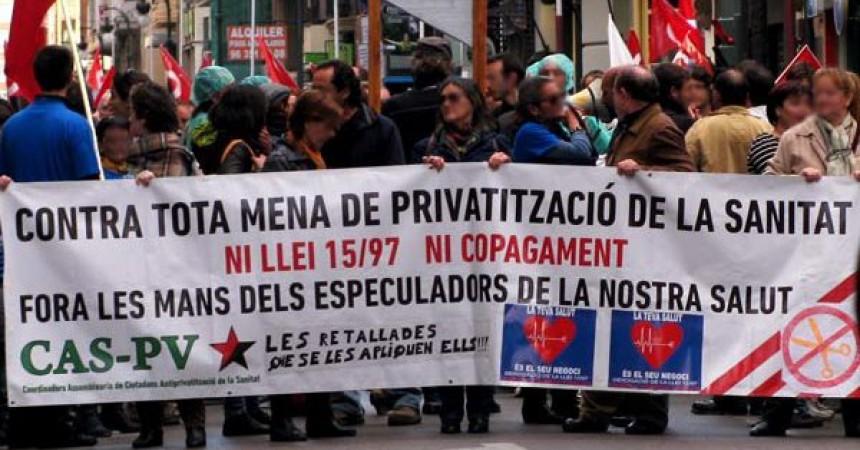 La Coordinadora Antiprivatitzacions del País Valencià convoca a la jornada de lluita europea per una sanitat pública