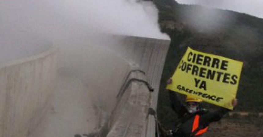 Activistes de Greenpeace assalten la Central de Cofrents