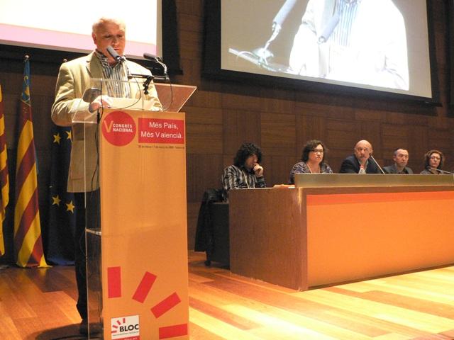 Albert Girona, coordinació de la ponència política, al Congrés del BNV. Foto: BNV