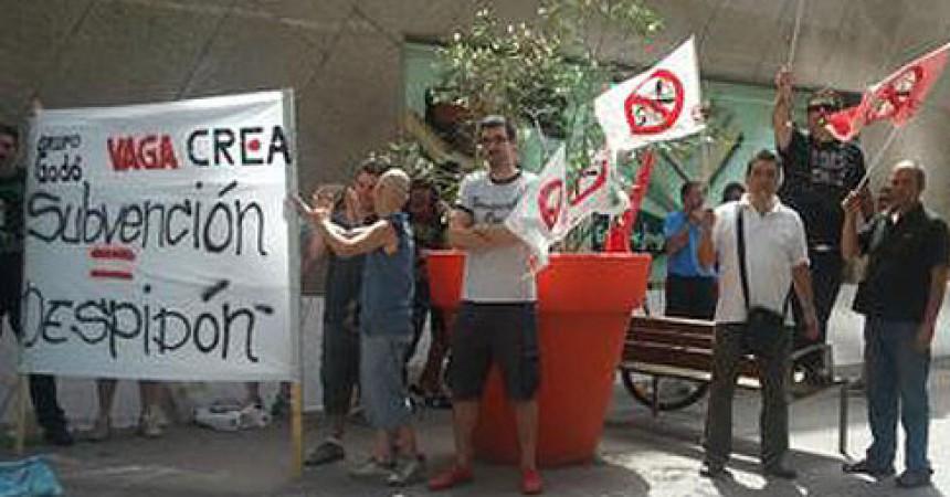 Treballadors de la impremta del grup Godó en vaga de fam