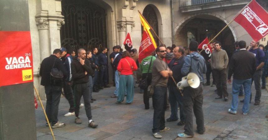 La Vaga General també arriba amb força a Girona