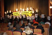 Acte solidari amb en David de la Fornal - Foto: Jordi Salvia