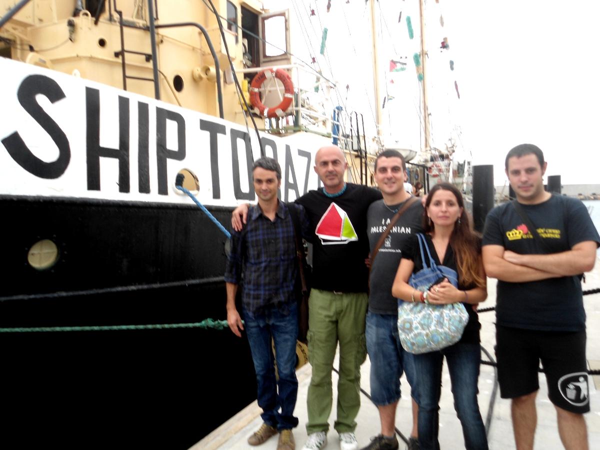 Delegació CUP flotilla llibertat Gaza Palestina Estelle