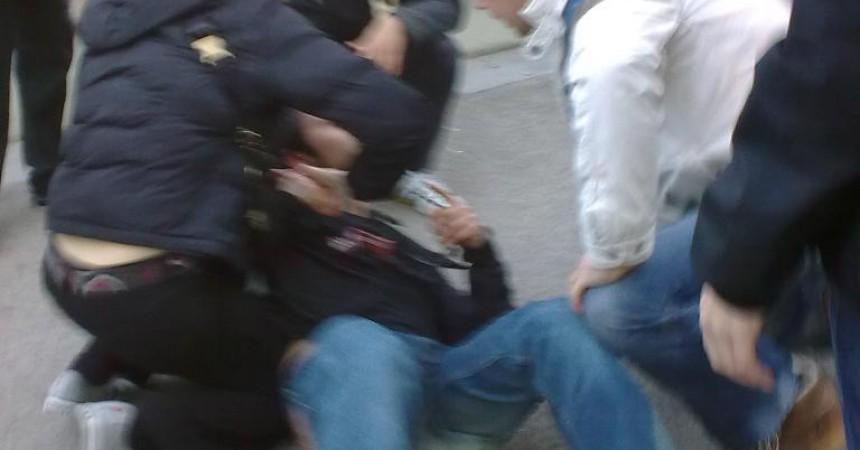 Fotografies de la detenció dilluns a la UAB