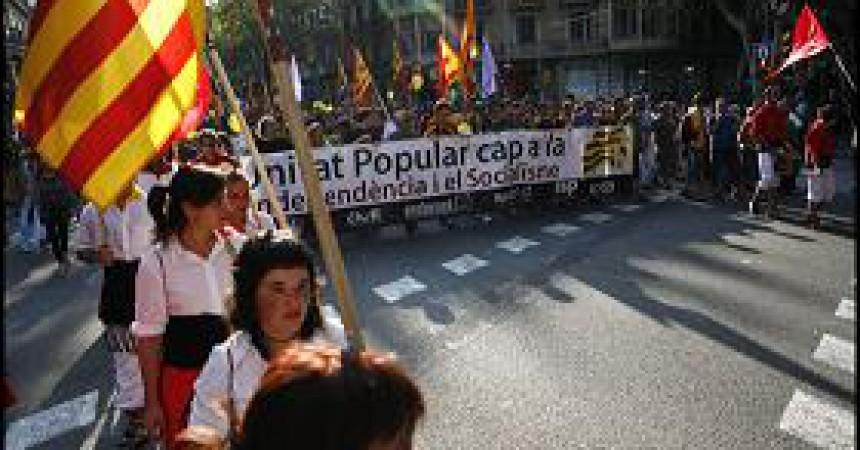 7.000 persones a la manifestació de l'esquerra independentista de la Diada a Barcelona