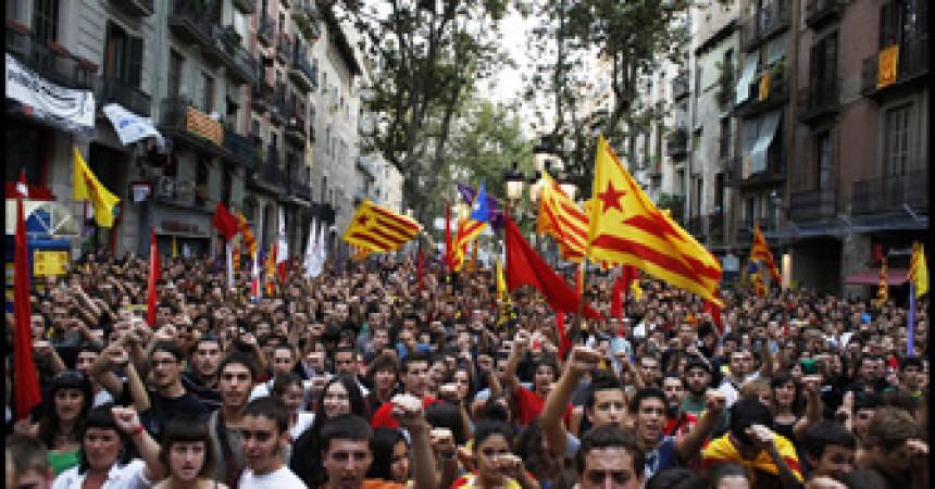 L'esquerra independentista mostra la seva fortalesa durant la Diada