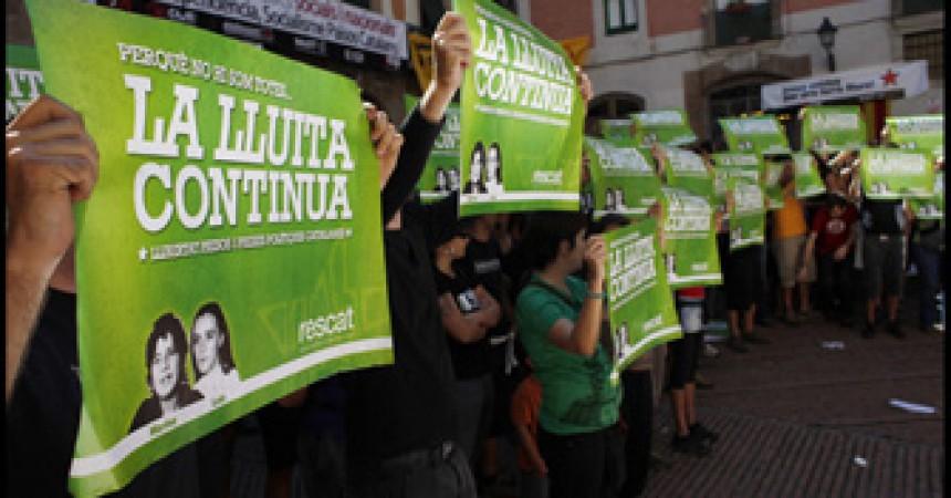 Rescat porta al Fossar la reivindicació de la llibertat de les preses polítiques