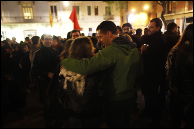 Rebuda al barri de Gràcia. FOTO: L'ACCENT