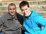 Diego i Zigor durant la jornada de benvinguda a Cotxeres de Sants