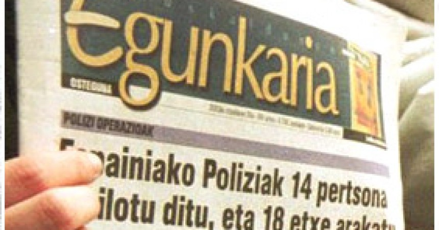 El tancament del diari Egunkaria va ser il·legal