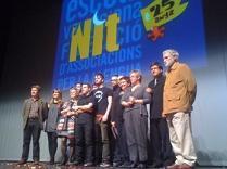 Els premiats en la nit dels 25 anys d'Escola Valenciana