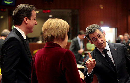 Cameron, Merkel, Sarkozy