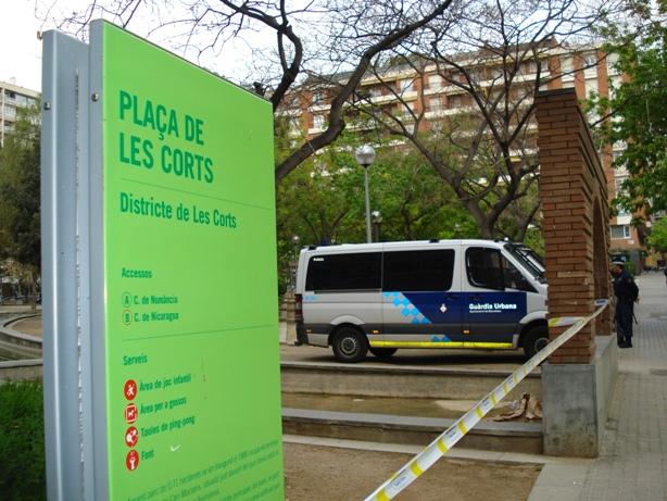 Antiavalots contra una jornada cultural a Les Corts