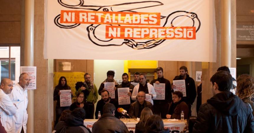Presenten a Girona la campanya 'ni retallades ni repressió' en suport als 6 gironins encausats