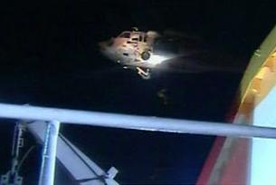 Un dels helicopters que ha atacat la Freedom Flotilla. FOTO: AlJazeera