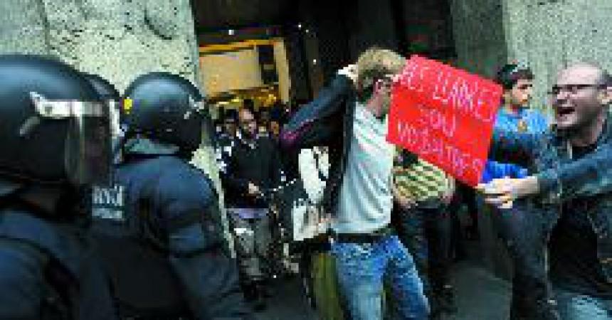 Crida a la mobilització des d'un hotel de luxe