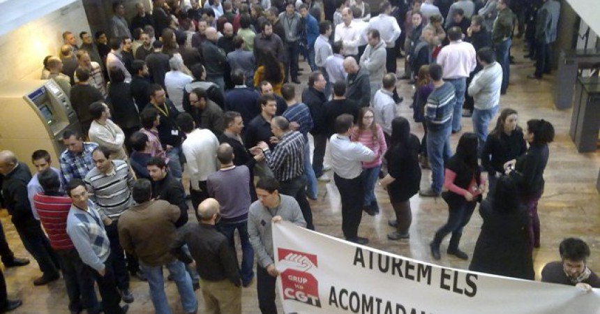 Els treballadors de HP en vaga solidària contra els acomiadaments