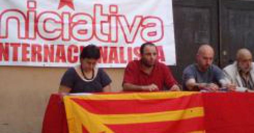 Sindicalistes i personalitats catalanes contra l'anul·lació d'Iniciativa Internacionalista