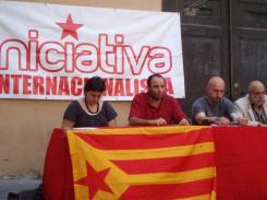 Roda de premsa al Fossar de les Moreres. Foto: Directe.cat