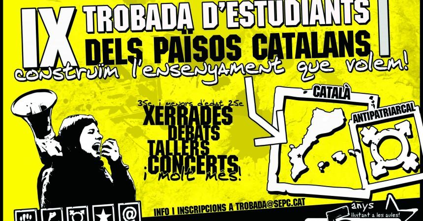 La novena Trobada d'Estudiants dels Països Catalans se celebra el 5, 6, 7 i 8 d'abril a Burjassot