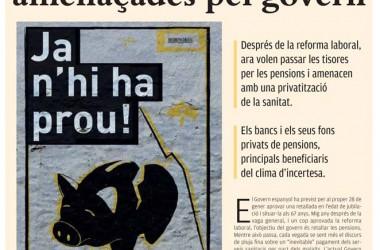 """Surt al carrer la publicació """"Ja n'hi ha prou: les pensions amenaçades pel govern."""""""