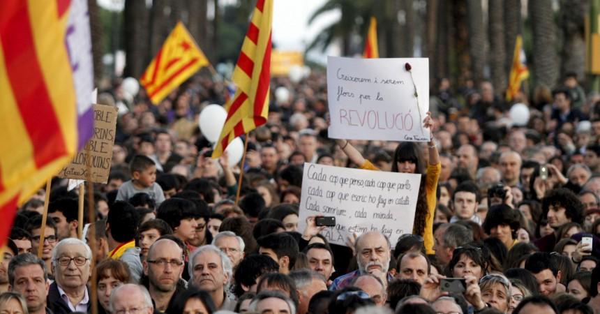 A Mallorca, pel català i pels drets socials, l'independentisme creix sense renúncies