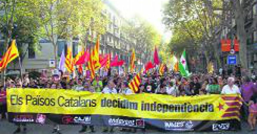 L'esquerra independentista mostra unitat en la Diada
