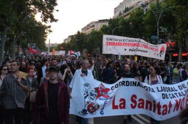 Mobilització contra el deute i la troika